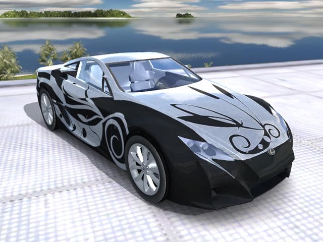 Trackmania Carpark • 3D Models • Lexus LF-A Concept