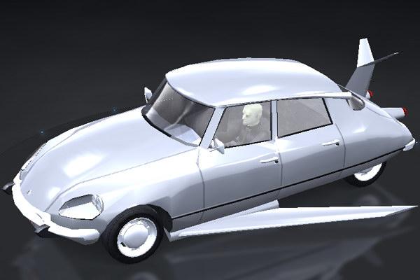 Cheap Drift Cars >> Trackmania Carpark • 3D Models • Citroen Citroen DS Fantomas
