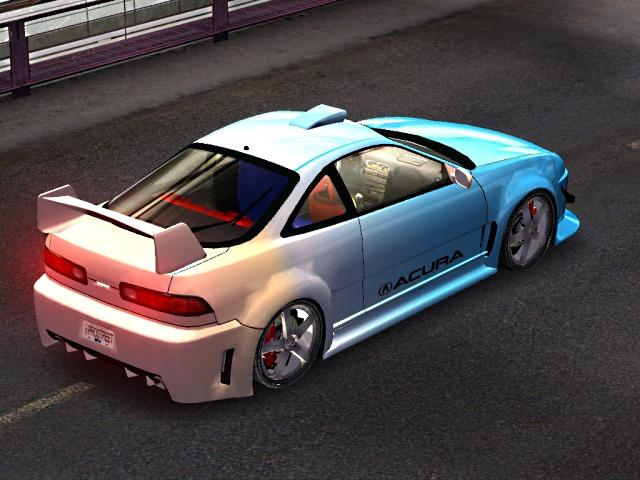 Acura Integra tunat,grafica 3D facuta pe calculator