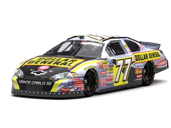 Trackmania Carpark O 2D Skins O NASCAR Busch 77 Labonte 2007