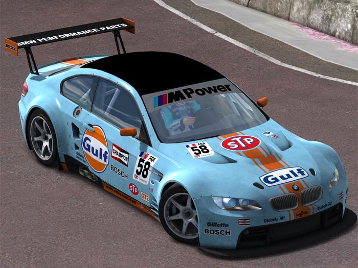 Trackmania Carpark 2d Skins Bmw M3 Gt2 Gulf Racing 58