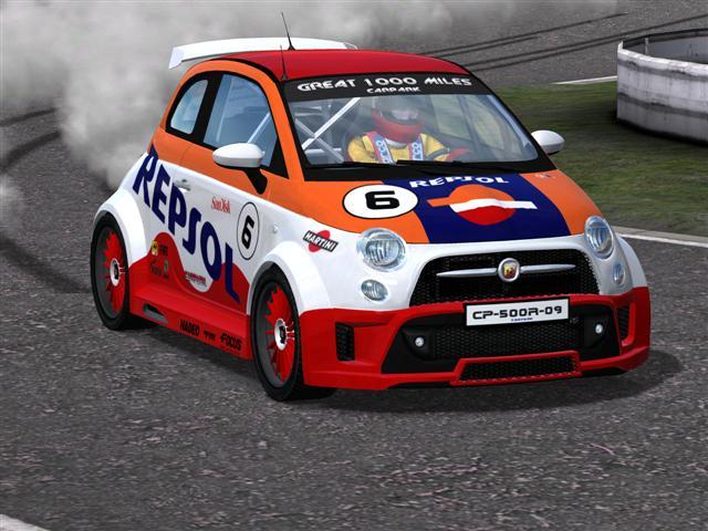 Trackmania Carpark 2d Skins Fiat 500 R Repsol