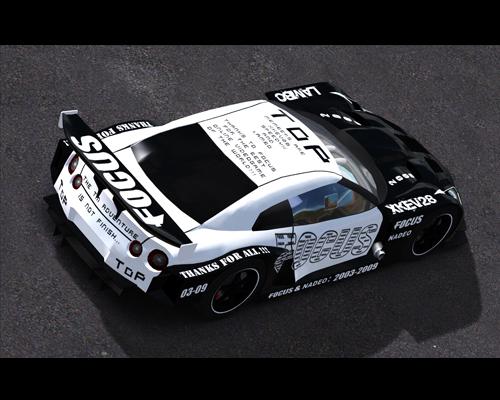 Trackmania Carpark • 2D Skins • GTR GT500 Focus [cm4]