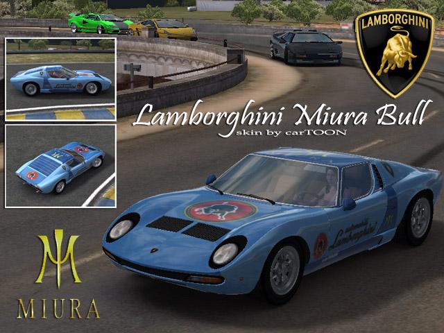Trackmania Carpark 2d Skins Lamborghini Miura Bull