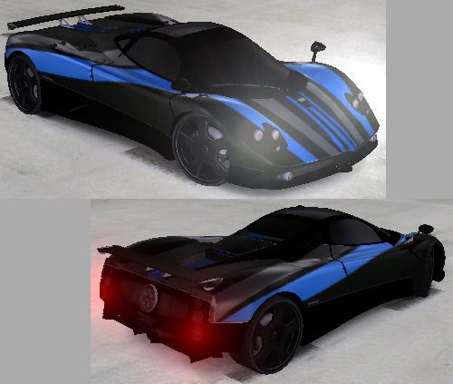 Trackmania Carpark • 2D Skins • NoirSport Pagani Zonda F