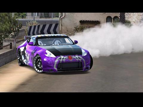 Trackmania Carpark • 2D Skins • Nissan 370z Purple Drift