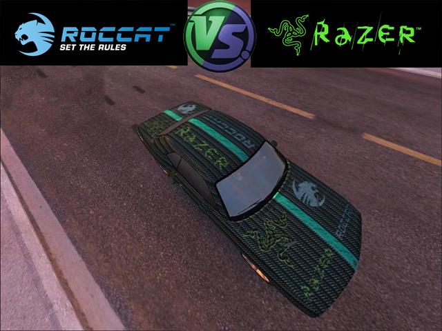 Trackmania Carpark 2d Skins Roccat Vs Razer