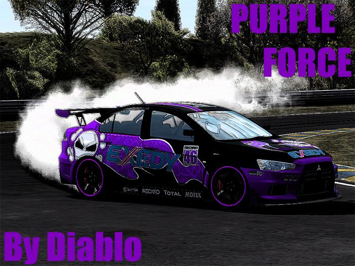 Trackmania Carpark 2d Skins Evo X Purple Force