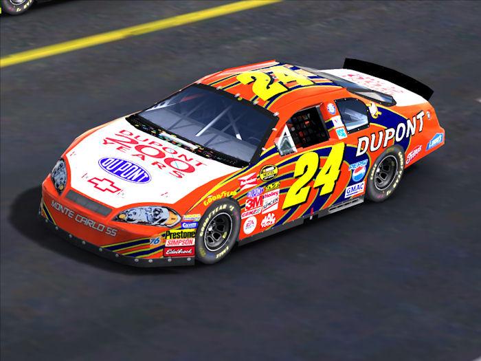 Trackmania Carpark • 2D Skins • Jeff Gordon Dupont 200 years