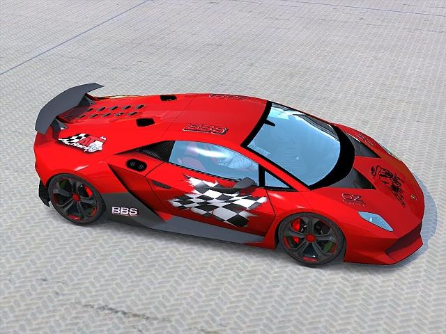 Trackmania Carpark \u2022 2D Skins \u2022 Lamborghini Sesto Elemento P