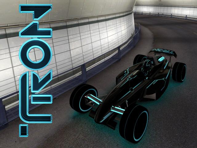 Trackmania Carpark 2d Skins Tron Legacy Car Blue