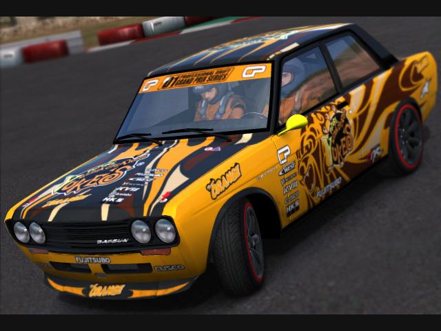 Trackmania Carpark • 2D Skins • Datsun 510 Yuke's