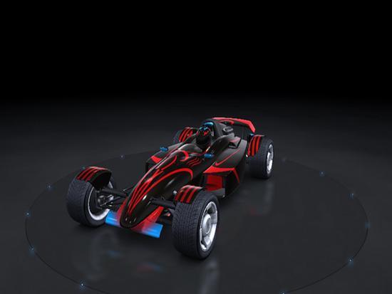 Trackmania Carpark • 2D Skins • Black PVD Car