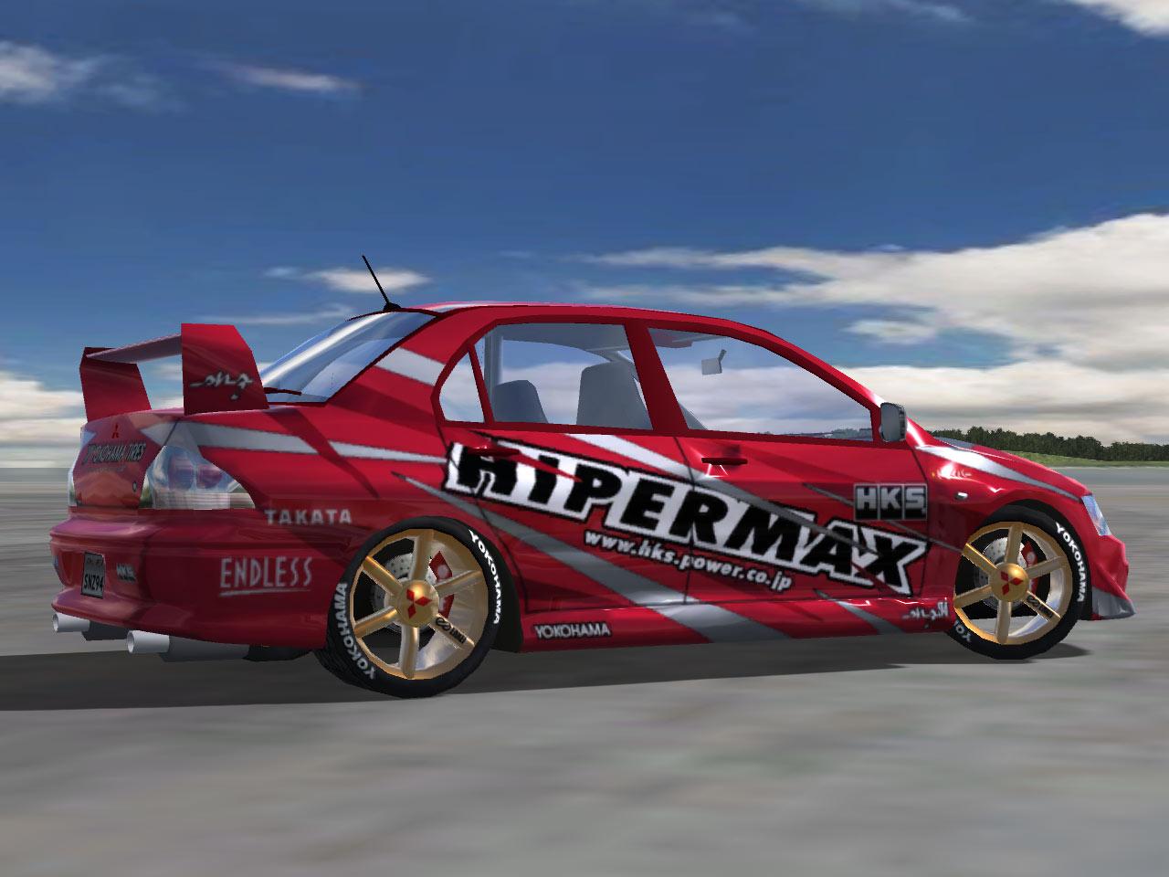 trackmania carpark • 2d skins • lancer evo-drift hks