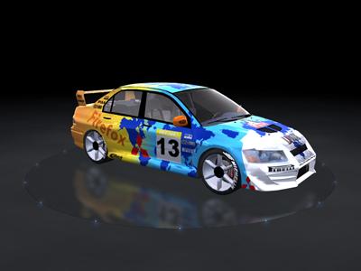 Trackmania Carpark • 2D Skins • Lancer Evo VII Firefox