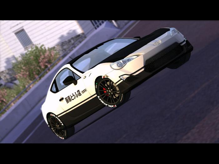 trackmania carpark 2d skins gt 86 initial d