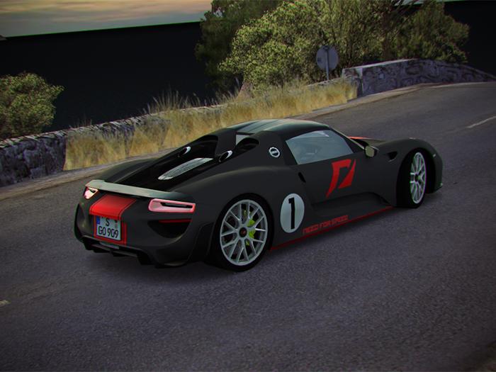 trackmania carpark 2d skins porsche 918 spyder wp ta3. Black Bedroom Furniture Sets. Home Design Ideas
