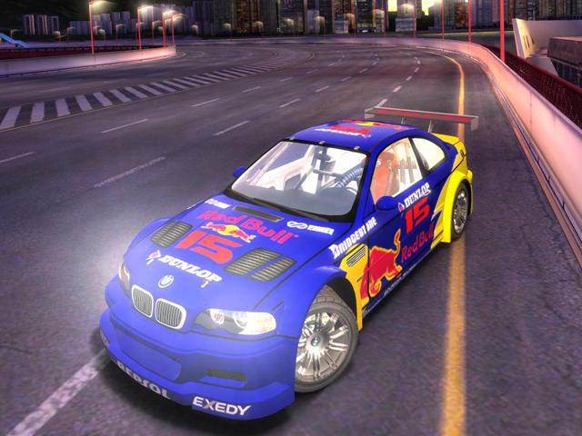 Trackmania Carpark D Skins BMW M GTR Red Bull - Bmw 2d